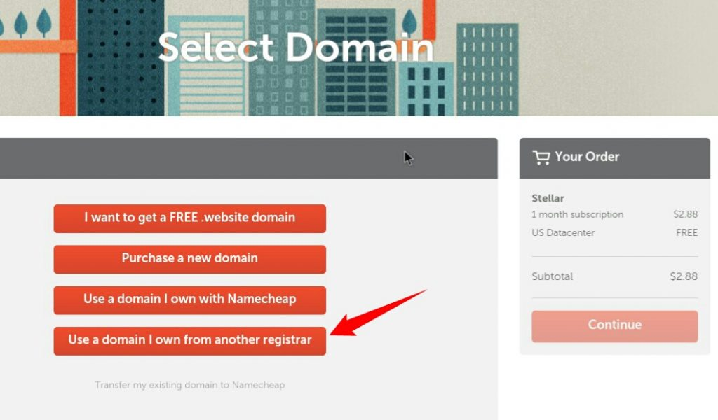 namecheap add to cart page