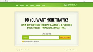 Quicksprout homepage