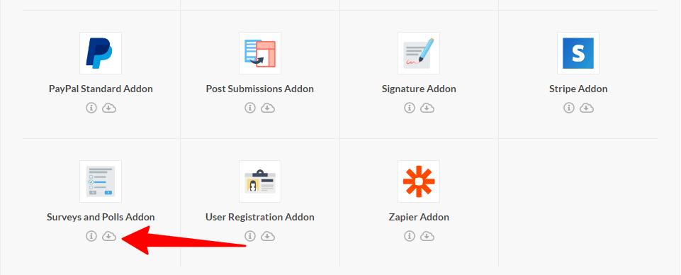 downloading addons va wpforms.com website