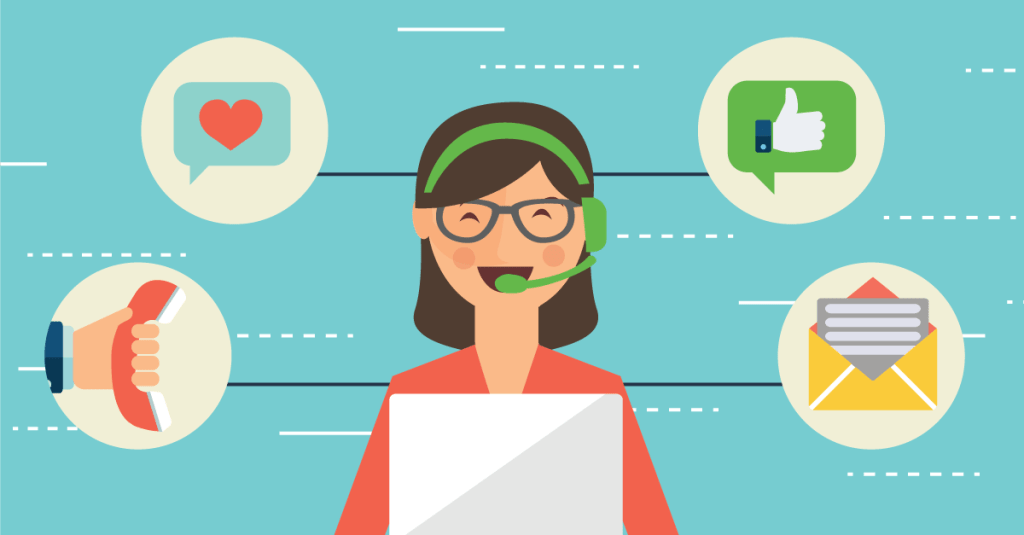 image illustration of customer care rep