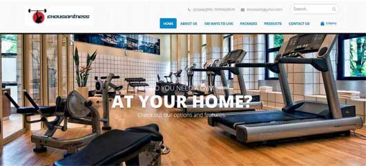 Web Design of Exousia Fitness