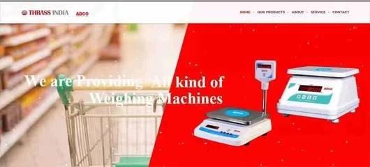 Web design of Thrassindia