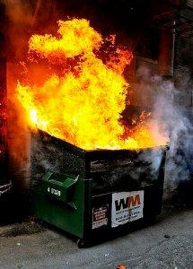 A literal dumpster fire