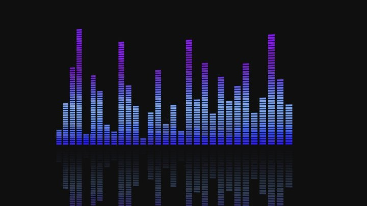 Equalizer with purple bars