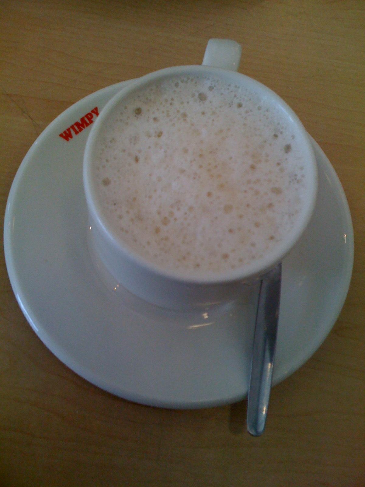 my reward - free coffee from wimpy