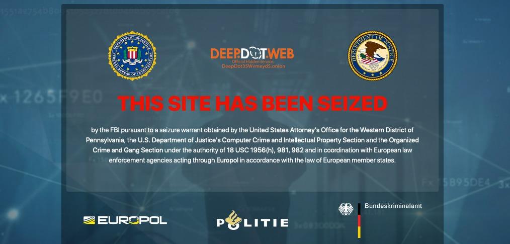 FBI a Europol opäť zasahovali, skončil DeepDotWeb