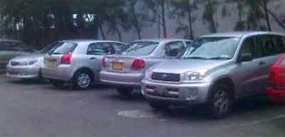 Silver Toyotas