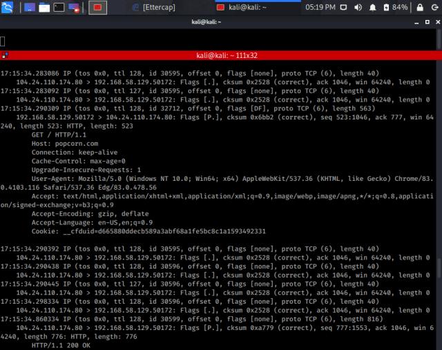 tcpdump output example 1