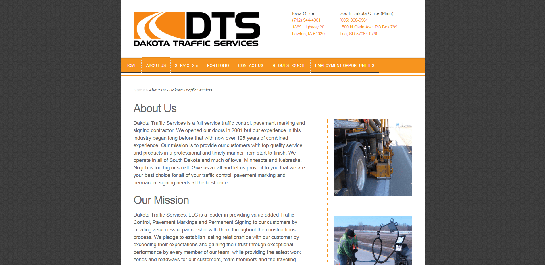About Us   Dakota Traffic Services