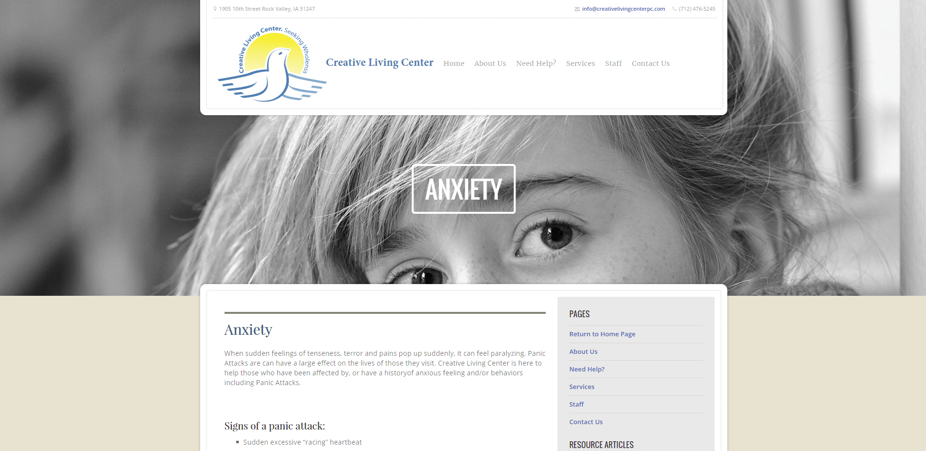 Anxiety   Creative Living Center