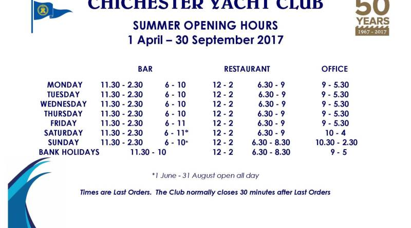 Summer Opening Hours from April 1st