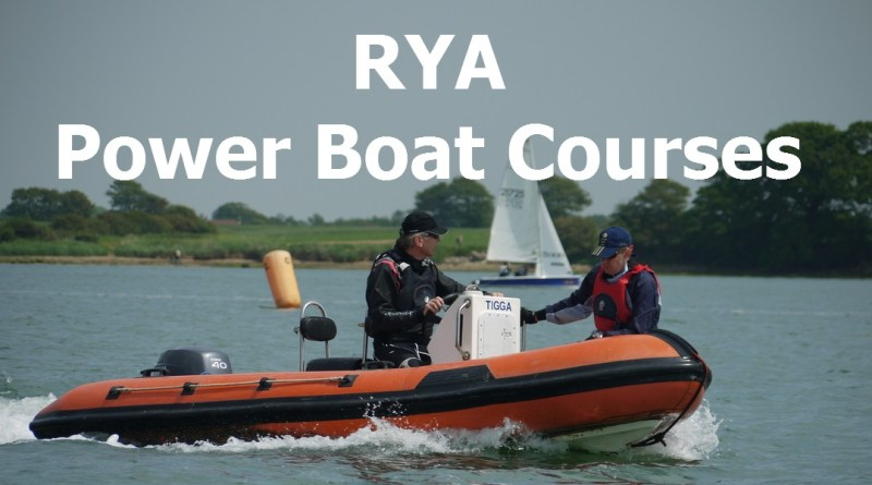 RYA Powerboat Level 2 Courses 2018