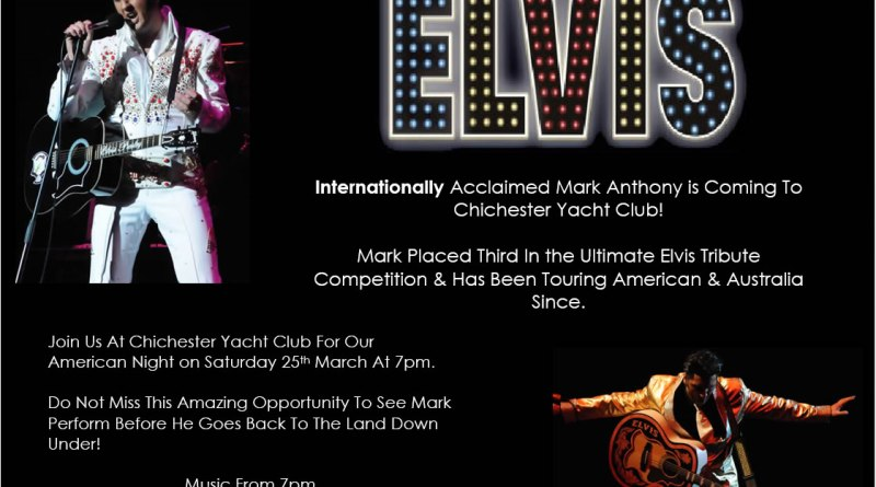 Don't miss our American 50's evening with World Famous Elvis Pressley Tribute Act