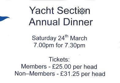 Yacht Section Annual Dinner 2018