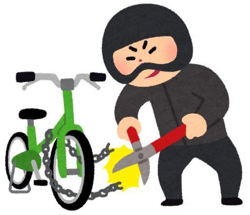 自転車盗難にご注意!!
