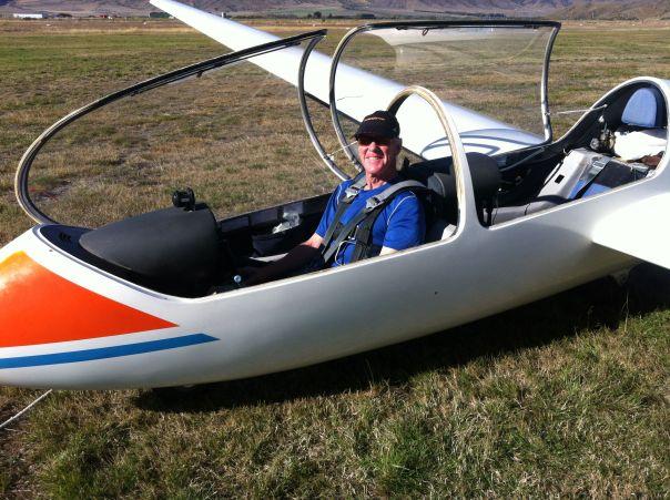 Eric's gliding lesson.
