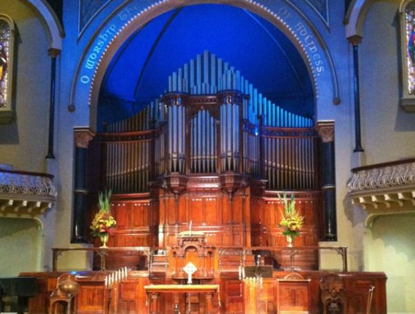 The Thursday organ concert at St Michael's Unifying Church was fantastic. (and free!)