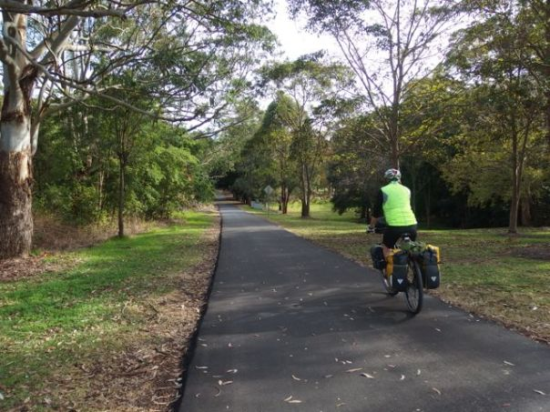 One of the cycle trails just outside of New Castle enroute to Cessnock.