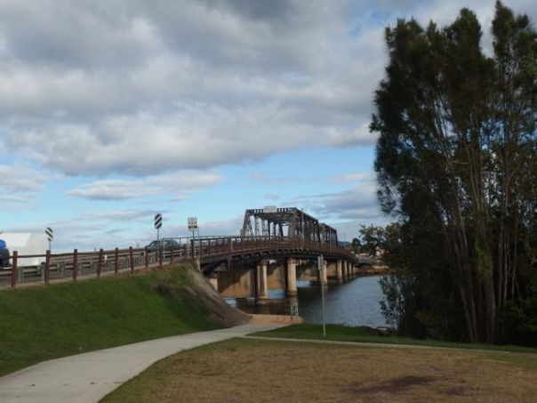 This cycle path just north of the bridge in Macksville was our first escape from the highway.