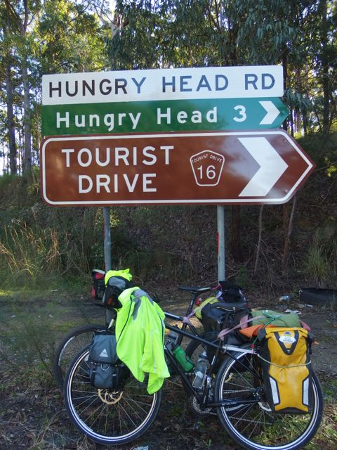 "We like to cycle on ""Tourist Drives"" but I still can't tell you why it's called ""Hungry Head."""