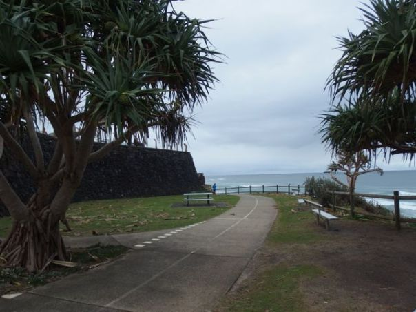 This cycle path is along a breakwater out to a whale watching point.