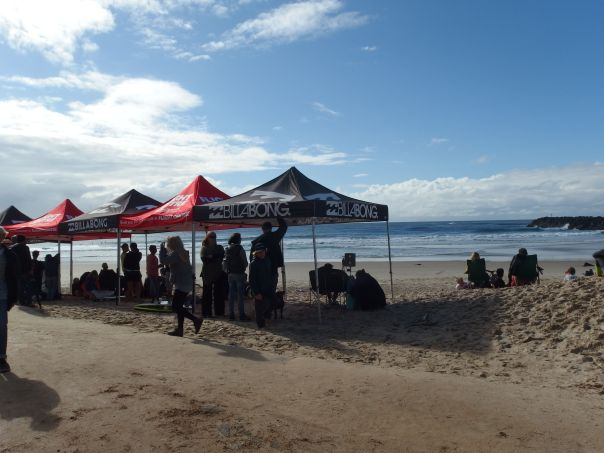 Our first sight in Queensland was a surfing tournament.