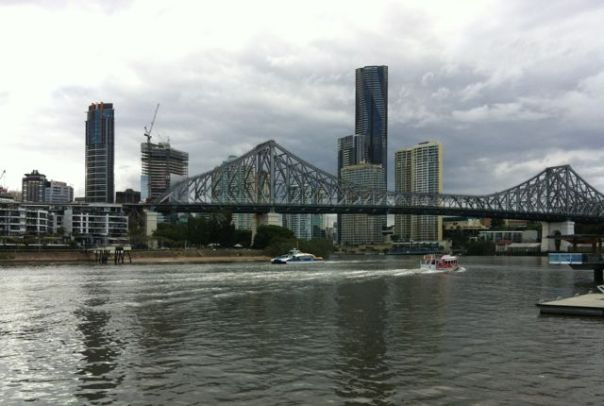 I couldn't get enough of the Brisbane River and the skyline.