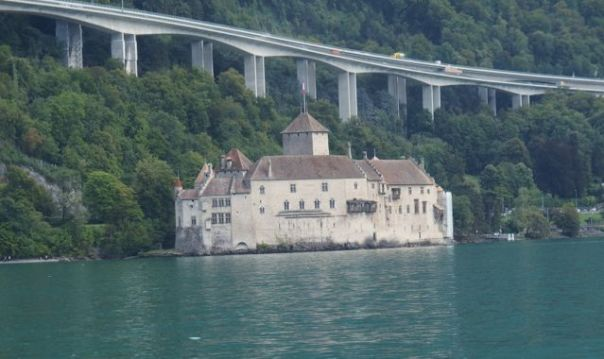 Chateau de Chillon, our point of disembarkment.