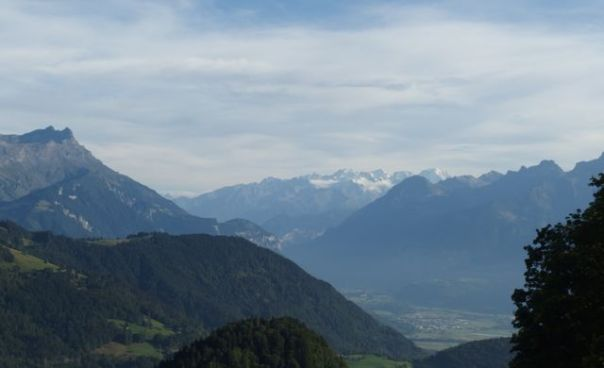 View from Arielles B&B in Leysin, Switzerland.