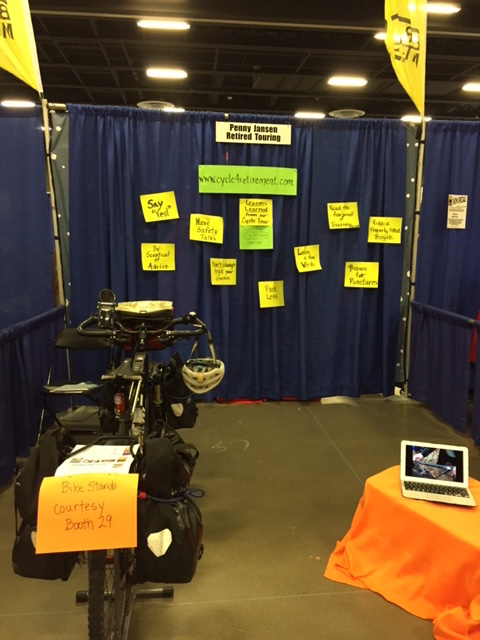 Booth at Bicycle Tour and Travel Expo