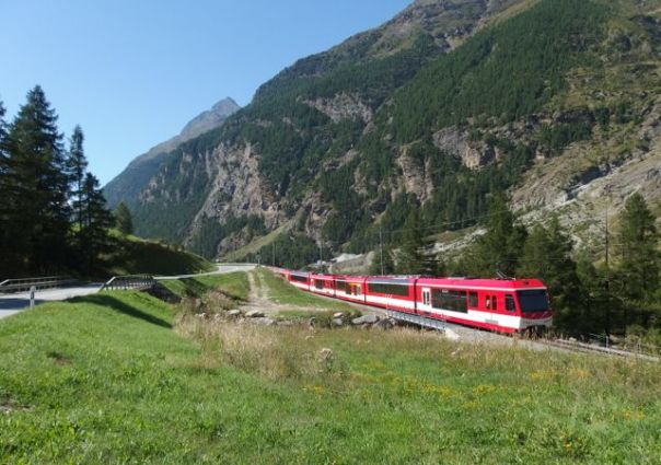 If you don't want to cycle to Zermatt, it's easy to put your bike on this train.