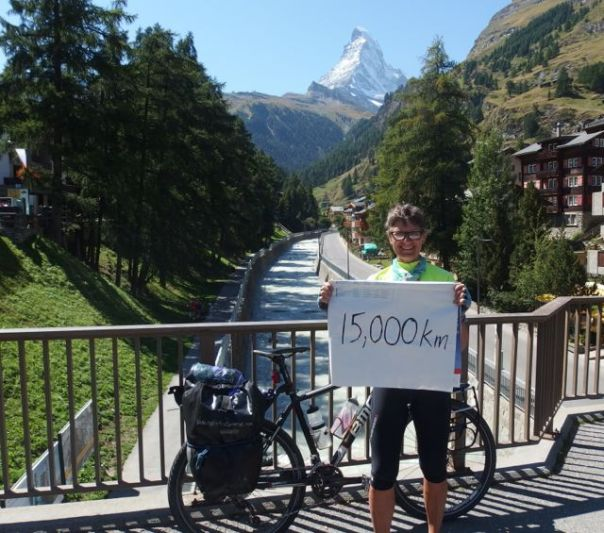 The Matterhorn - not a bad backdrop for the end of an amazing journey.