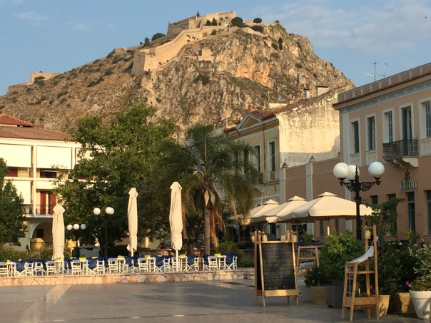 One of the cute town squares in Nafplio.