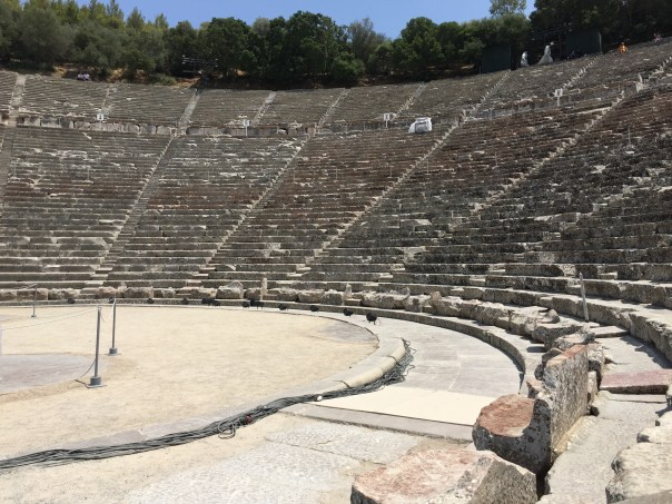 The Epidavros Theater is still in use and has seating for 13,000.