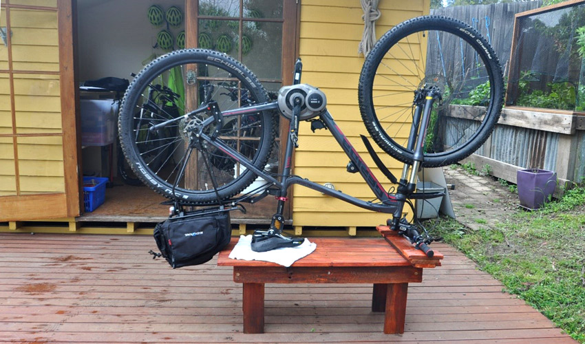 Pallet Bicycle Bench at Bruny Island Bike Hire