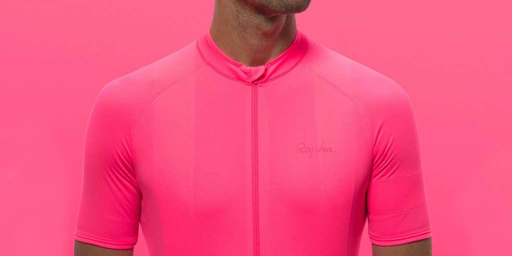 Rapha Core Jersey in High-Vis Pink