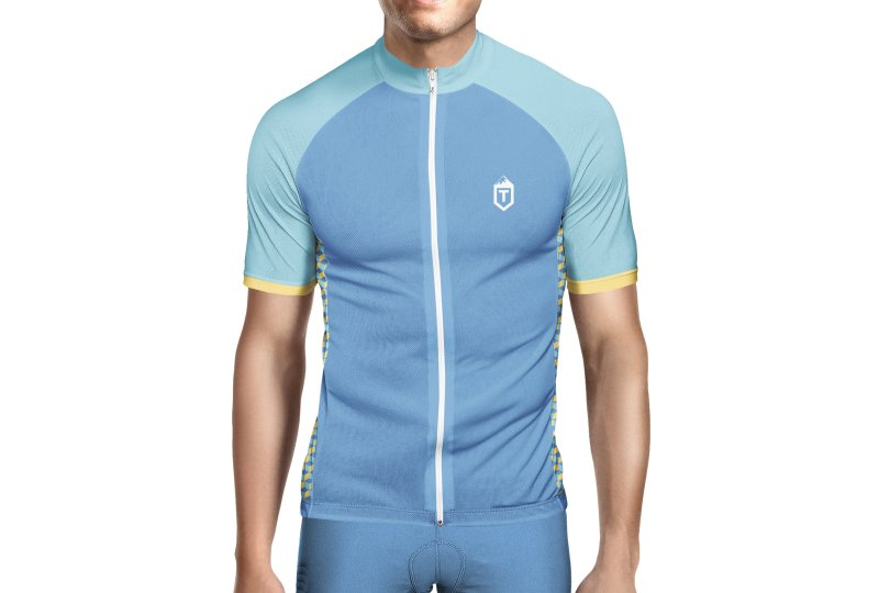 T Cycling Teal / Yellow Isometric Jerse