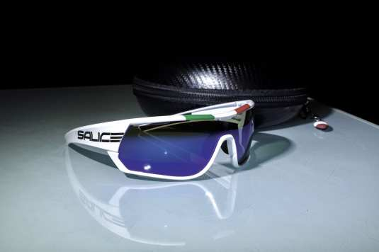 Salice 016 Italian Edition in White with Mirrored Lenses