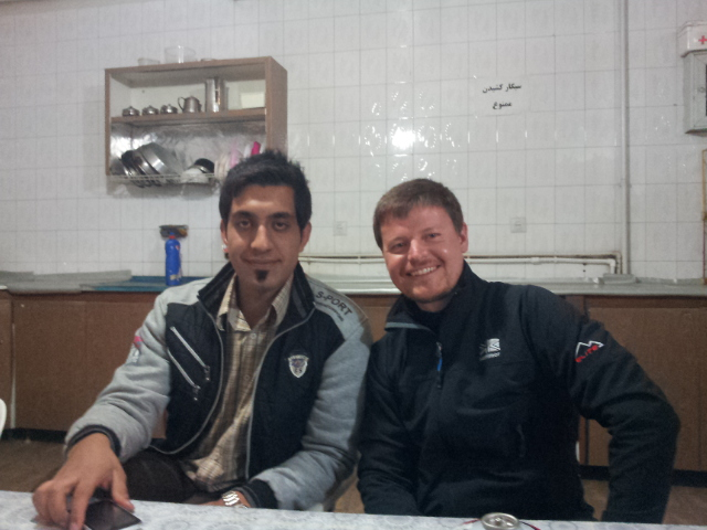 Hamid and I at the hotel in Delijan