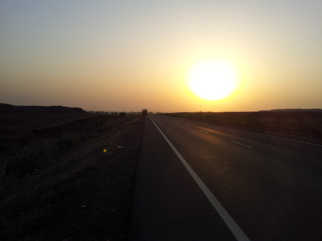 Sunrise is the best time of the day for a cyclist; the roads are quiet from traffic and noise, the air is cooler, and the views are not bad either.