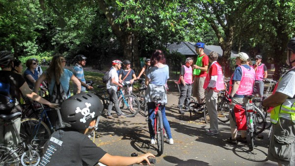 Keith briefs the cyclists before setting off...Photo credit Yurij Akapov