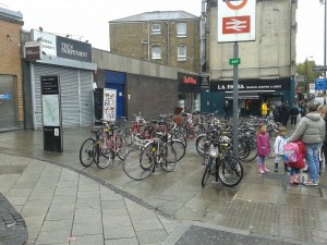The station bike racks are full on a wet weekend, let alone a sunny weekday. But Labour have no plans to improve conditions.