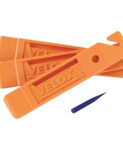 λεβιέδες εξαγωγής ελαστικών, λεβιεδάκια, πορτοκαλί, ποδηλάτου, velox, tyre levers, orange, bicycle