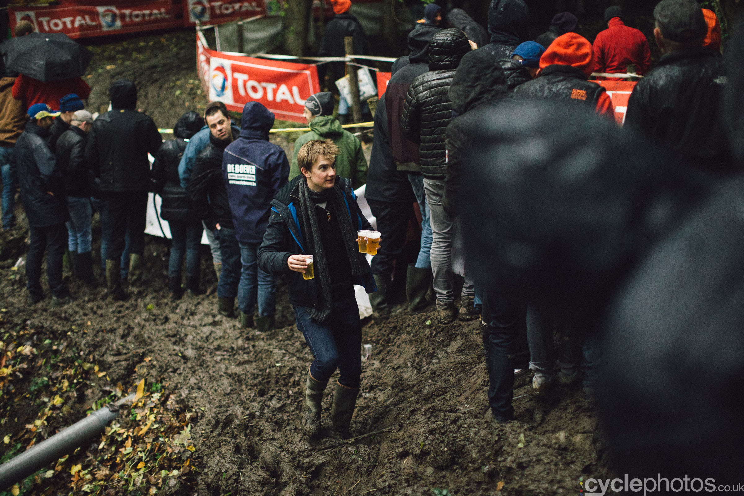 Spectators at Cyclocross Superprestige #5 - Gavere, BEL