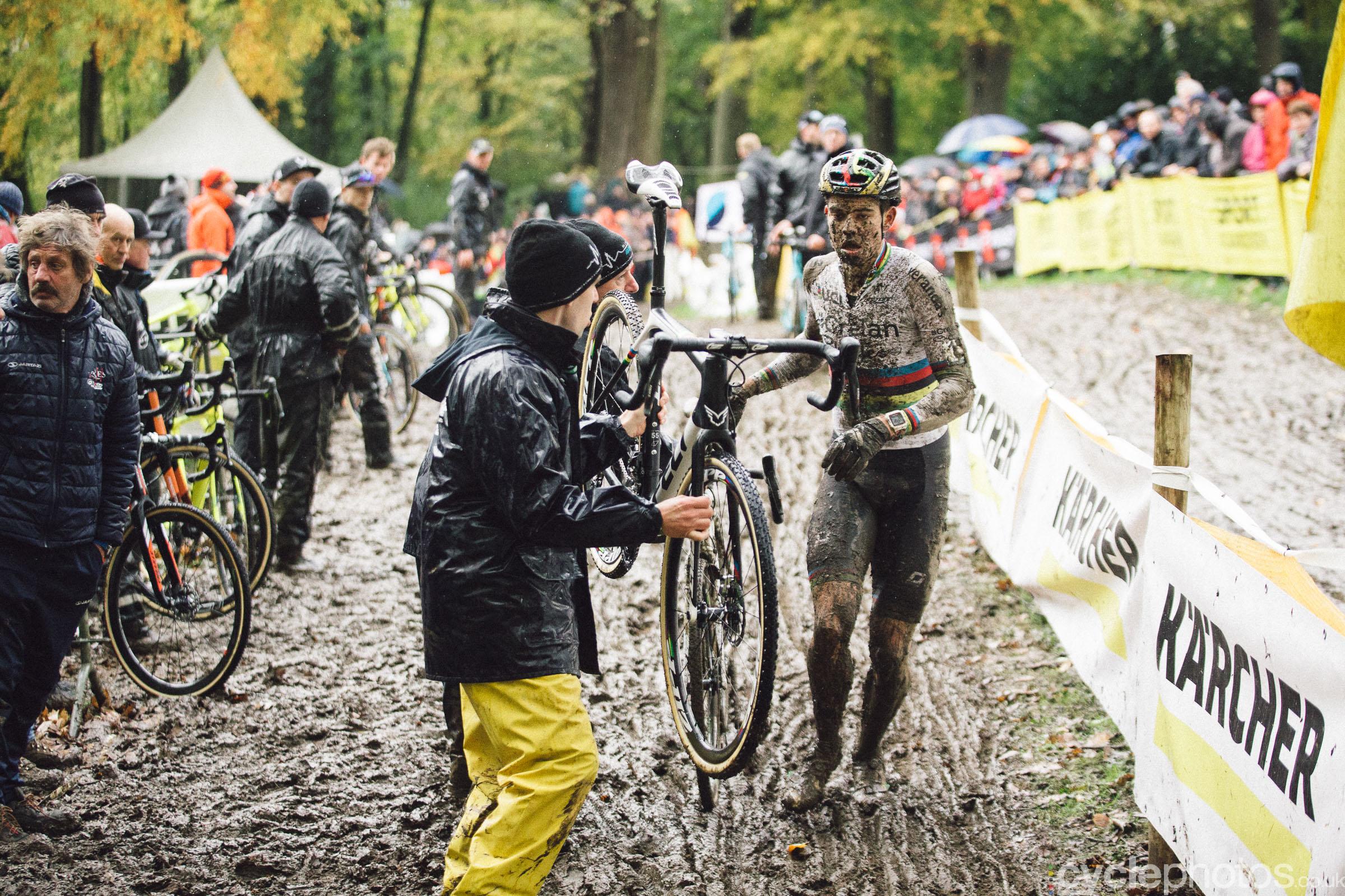 Wout Van Aert at Cyclocross Superprestige #5 - Gavere, BEL