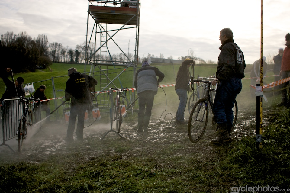 Though it wasn't raining today, it had been raining all week, so the course was appropriately muddy.