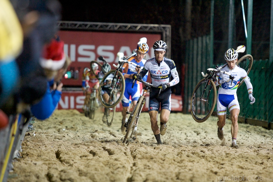 The U23 race was dominated by Wietse Bosmans and Lars Van Der Haar. Impressive quads, by the way.