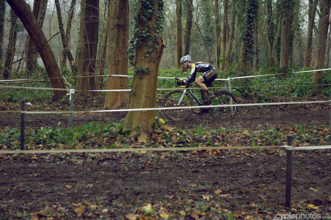 A lonely rider from the juniors' race