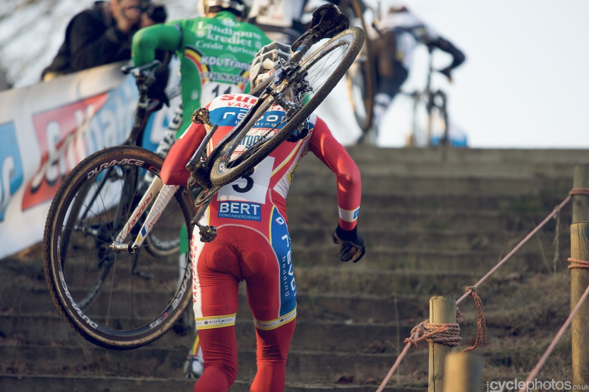 Kevin Pauwels didn't have a good start but kept in touch with the front.