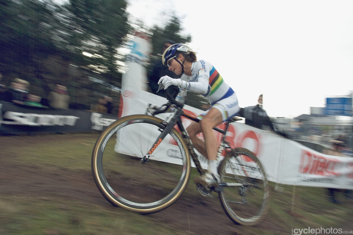 The first race this season when Marianne Vos launched her devastating attack early on and never looked back. This is her, not looking back.